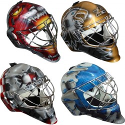 Rey Goalie Pro Mask in carbon / kevlar-carbon